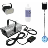 EUROLITE Set LED Twinkle Ball + LED Party Strobe 36 + N-10 silve