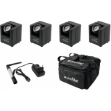 EUROLITE Set 4x AKKU UP-1 + SB-4 Soft-Bag + QuickDMX Wireless tr
