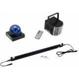 EUROLITE Set LED Buzzer-Polizeilicht blue + LED Mini D-4 + UV tu