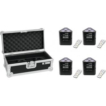 EUROLITE Set 4x AKKU TL-3 TCL Trusslight + Case