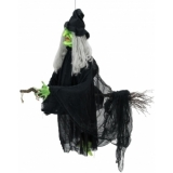 EUROPALMS Halloween Flying Witch 140cm