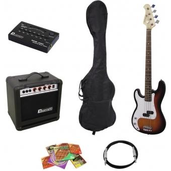 DIMAVERY BGS-10 E-Bass-Set LH, sunburst