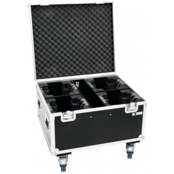 ROADINGER Flightcase 4x TMH FE-600 with wheels