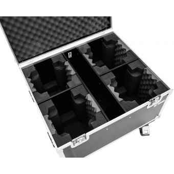 ROADINGER Flightcase 4x TMH FE-600 with wheels #4