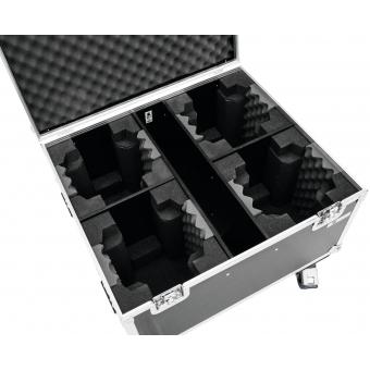 ROADINGER Flightcase 4x TMH FE-600 with wheels #4