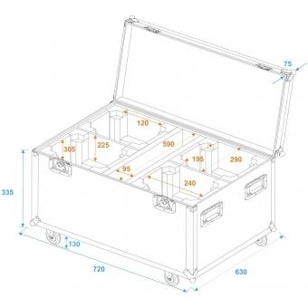 ROADINGER Flightcase 4x TMH FE-600 with wheels #5