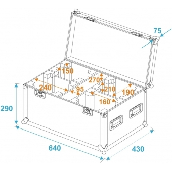 ROADINGER Flightcase 4x TMH-14/FE-300 #5