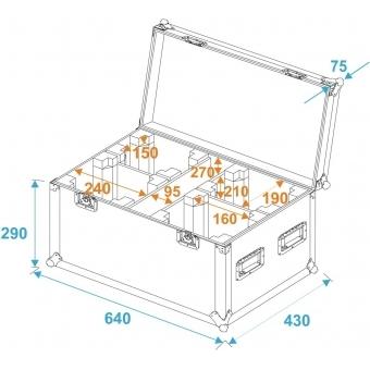 ROADINGER Flightcase 4x TMH-14/FE-300 #5