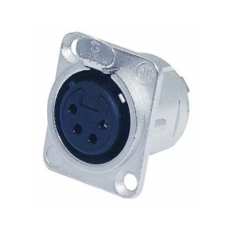 NEUTRIK XLR mounting socket 4pin NC4FDL-1 #4