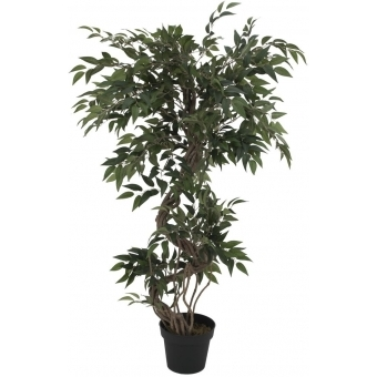 EUROPALMS Ficus multiple spiral trunk, artificial plant, green,