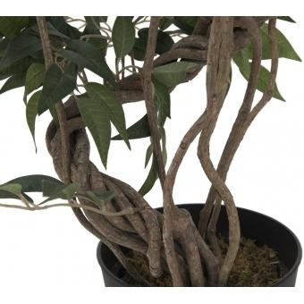 EUROPALMS Ficus multiple spiral trunk, artificial plant, green, #3