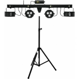 EUROLITE Set LED KLS Laser Bar FX + Speaker system stand alu bk