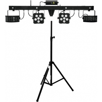 EUROLITE Set LED KLS Laser Bar Pro FX + Speaker system stand alu