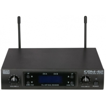 Sistem wireless 2 microfoane DAP-AUDIO COM-42