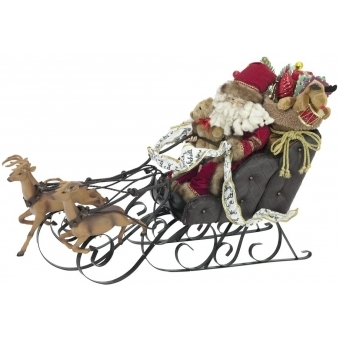 EUROPALMS Christmas sleigh, with reindeer, 75cm #1