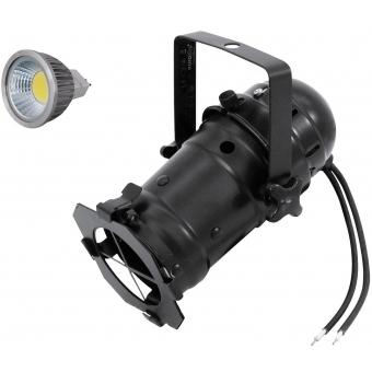 EUROLITE Set PAR-16 Spot bk + MR-16 12V GX-5,3 5W LED COB 6400K