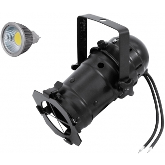 EUROLITE Set PAR-16 Spot bk + MR-16 12V GX-5,3 5W LED COB 3000K
