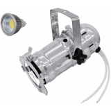 EUROLITE Set PAR-16 Spot sil + MR-16 12V GX-5,3 5W LED COB 3000K