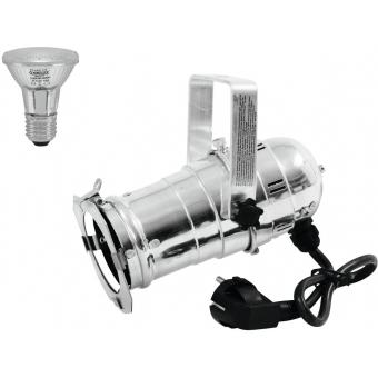 EUROLITE Set PAR-20 Spot sil + PAR-20 230V SMD 6W E-27 LED 6500K