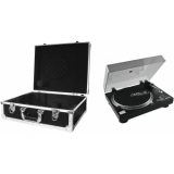 OMNITRONIC Set DD-2520 USB Turntable bk + Case black -S-