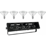 EUROLITE Set STP-5 DMX Bar + 5x PAR-30 240V 75W E-27 flood 2000h