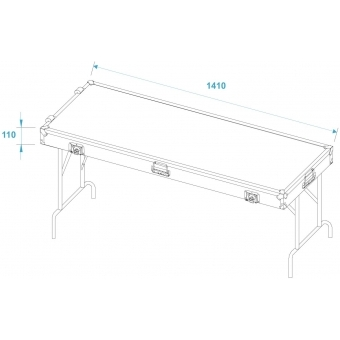 ROADINGER 2 Desks in Case Design 140x50cm #8