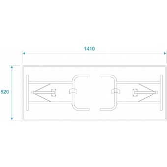 ROADINGER 2 Desks in Case Design 140x50cm #9