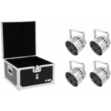 EUROLITE Set 4x LED PAR-56 QCL Short sil + EPS Case