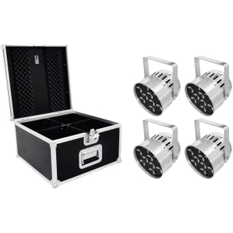 EUROLITE Set 4x LED PAR-56 HCL Short sil + PRO Case