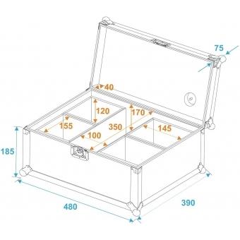 ROADINGER Flightcase 4x AKKU UP 4 QCL Spot QuickDMX #6