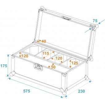 ROADINGER Flightcase 4x AKKU TL-3 TCL Trusslight #5