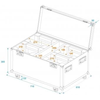ROADINGER Flightcase 4x LED TMH-X1 Moving-Head Beam #5