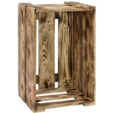 EUROPALMS Wine Crate flamed & Lacquered