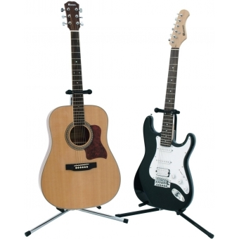 DIMAVERY Guitar Stand black, ECO #4