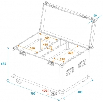 ROADINGER Flightcase 2x TMH-X20 #5