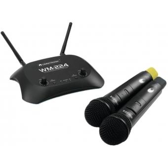 OMNITRONIC WM-224 2-Channel Wireless Microphone System 2.4GHz