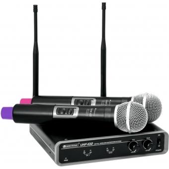 OMNITRONIC UHF-102 Wireless Mic System 823.5/863.1MHz
