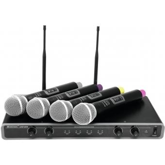 OMNITRONIC UHF-104 Wireless Mic System 823.5/825.3/863.1/864.1MH