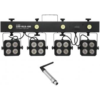 EUROLITE Set LED KLS-180 + QuickDMX Wireless receiver