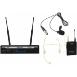 RELACART Set UR-222S Bodypack with Headset and Lavalier