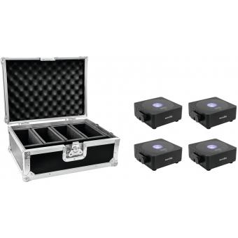 EUROLITE Set 4x LED TMH-X12 + Case