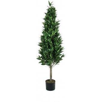 EUROPALMS Laurel Cone Tree, high trunk, artificial plant, 150cm