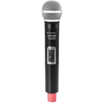OMNITRONIC UHF-100 Handheld Microphone 828.1MHz (red)