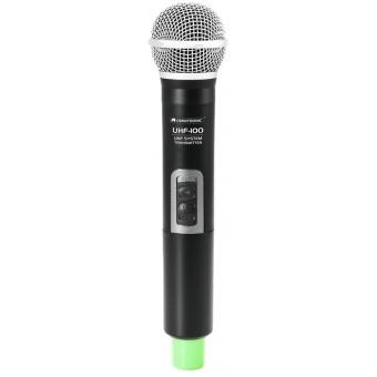 OMNITRONIC UHF-100 Handheld Microphone 830.3MHz (green)
