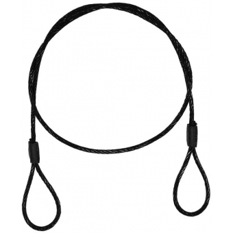 EUROLITE Steel Rope (SC) 900x4mm black without quick link