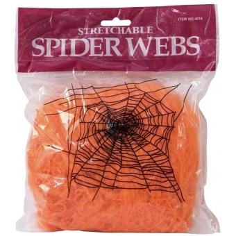 EUROPALMS Halloween spider web orange 100g UV active