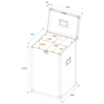 ROADINGER Flightcase 4x Microphone Stand #6