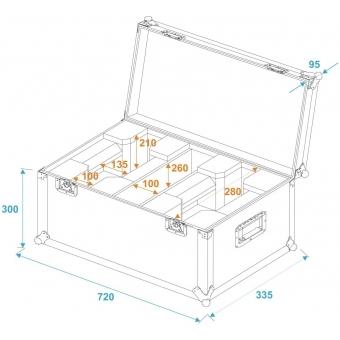 ROADINGER Flightcase 2x LED TMH-X1 Moving-Head Beam #5