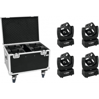 EUROLITE Set 4x LED MFX-3 Action Cube + Case #1