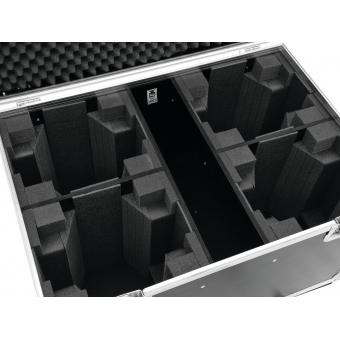 ROADINGER Flightcase 4x LED MFX-3 with wheels #4